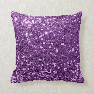 Glitter Stylist Fashion Sequin Violet Purple Grape Throw Pillow