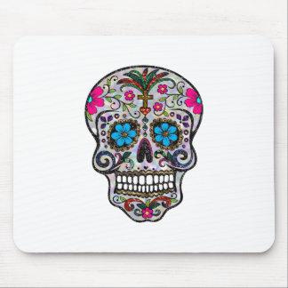 glitter Sugar Skull Mouse Pad