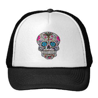 glitter Sugar Skull Trucker Hat