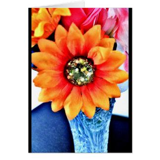 Glitter Sunflower Card