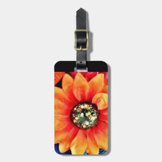 Glitter Sunflower Luggage Tag