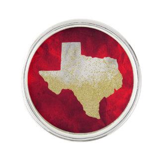Glitter Texas on Vivid Red Lapel Pin