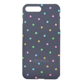 Glitter Texture Colorful Dots Pattern iPhone 8 Plus/7 Plus Case