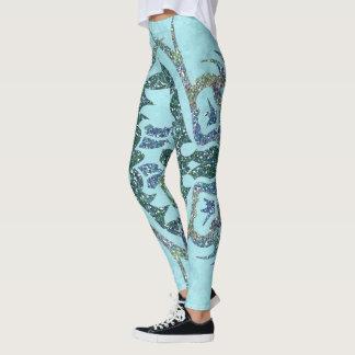 Glitter Texture Ornamentals Leggings