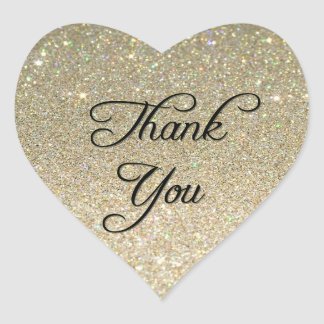 Glitter Thank You Sticker