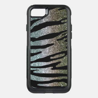Glitter Tiger Stripe Case Gold Silver Blue
