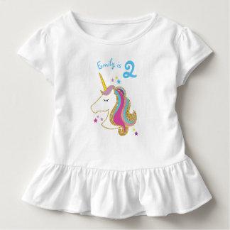 Glitter Unicorn MagicalGirl Birthday T-Shirt