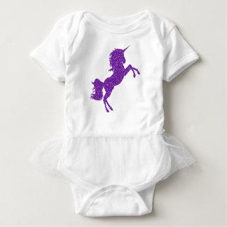 Glitter Unicorn Purple Baby Tutu Romper Girls