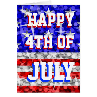 Glitter USA 'Happy 4th of July' greetings card