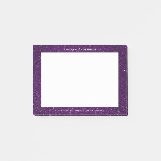 Glitter Violet Plum Mail Name Web Telephone Number Post-it Notes