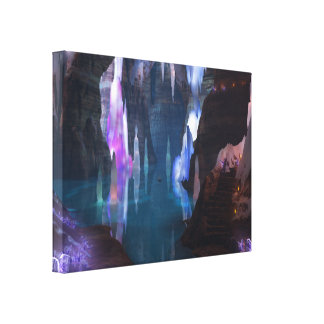 Glittering Caves by Night Canvas Print
