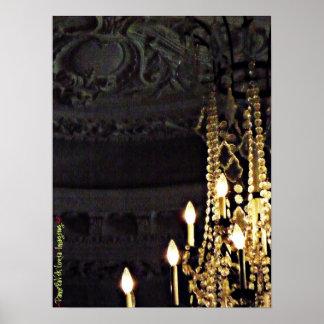 Glittering Chandelier Poster