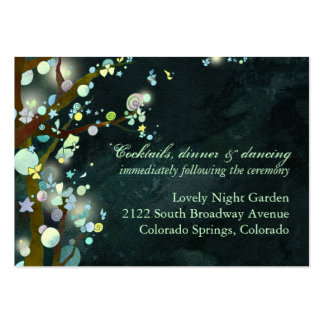 Glittering Fairytale Wedding Reception Inset Cards Business Card