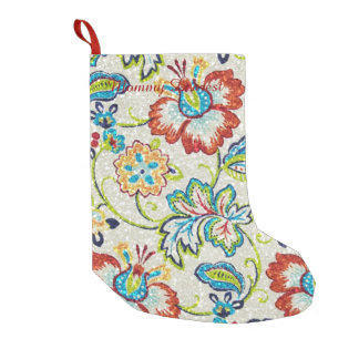 Glittering Flowers for Mom Small Christmas Stocking