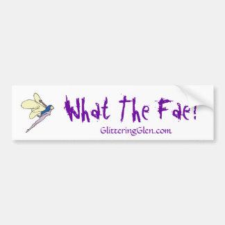 Glittering Glen Bumper Sticker - Fae Car Bumper Sticker