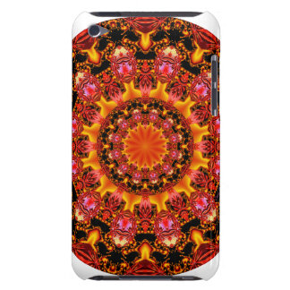 Glittering Gold Mandala Abstract Red Orange Amber Barely There iPod Covers