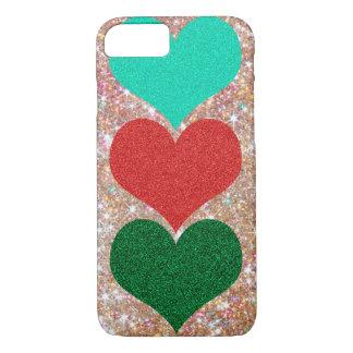 glittering heart case