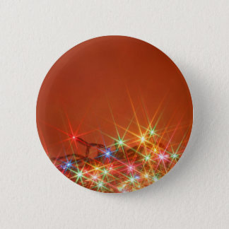 Glittering seasonal lights 2 inch round button
