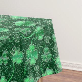 Glittering Shamrocks and Swirls ID289 Tablecloth