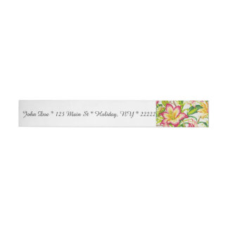 Glittering Spring Floral Tapestry Wraparound Address Label