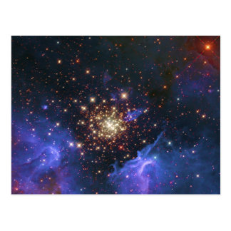 Glittering Star Cluster and Interstellar Gas Cloud Postcard