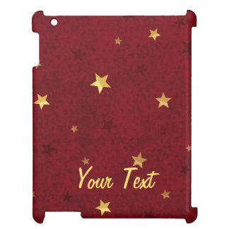 Glittering stars Royal Red Case For The iPad 2 3 4