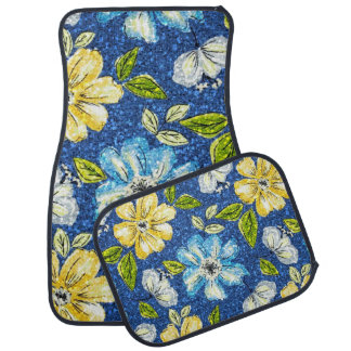 Glittering Tapestry Floral Car Mat