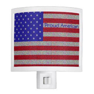Glittery American Flag Nite Light