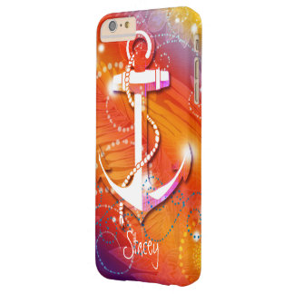 Glittery Anchor Nautical Barely There iPhone 6 Plus Case