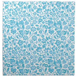 Glittery Blue Floral Napkin
