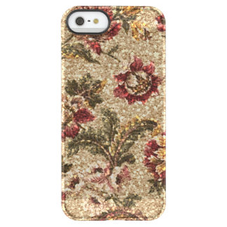 Glittery Earthtone Floral Tapestry Permafrost® iPhone SE/5/5s Case