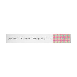 Glittery Easter Tartan Plaid Wraparound Address Label