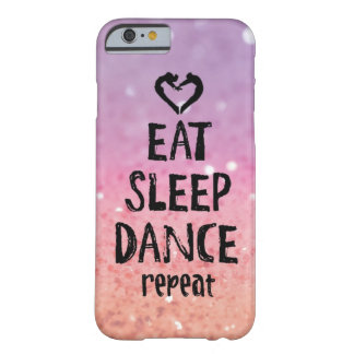 Glittery Eat, Sleep, Dance case