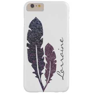 Glittery Feathers Barely There iPhone 6 Plus Case