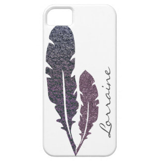 Glittery Feathers Case For The iPhone 5