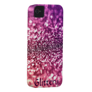 Glittery Glam iPhone 4 Case-Mate Case
