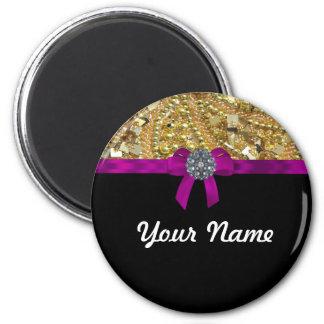Glittery gold & black magnet