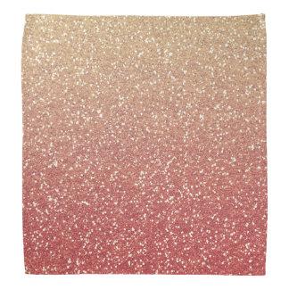 Glittery Gold Pink Kerchiefs