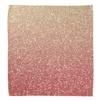 Glittery Gold Pink Bandana