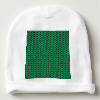 Glittery Holiday Zigzags Baby Beanie