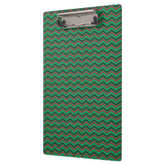Glittery Holiday Zigzags Clipboard