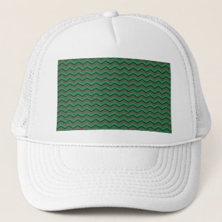 Glittery Holiday Zigzags Trucker Hat