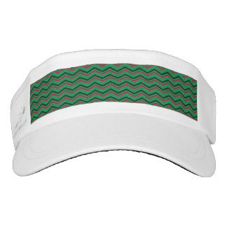 Glittery Holiday Zigzags Visor