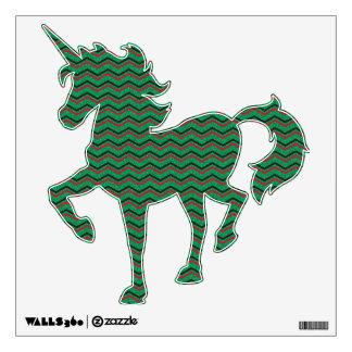 Glittery Holiday Zigzags Wall Sticker