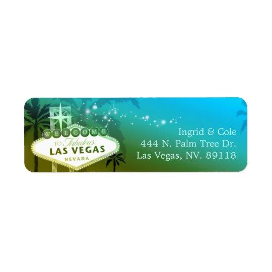 Glittery Light Blue Las Vegas Wedding