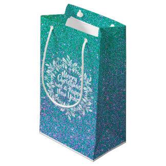 Glittery Merry Christmas   Gift Bag