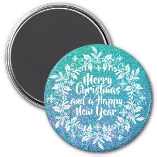Glittery Merry Christmas | Magnet