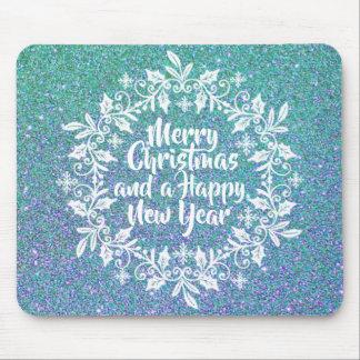 Glittery Merry Christmas | Mousepad