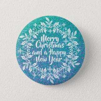 Glittery Merry Christmas | Pin Button