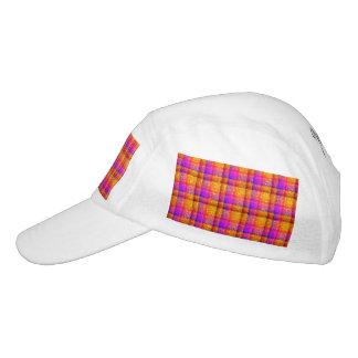 Glittery Neon Plaid Headsweats Hat